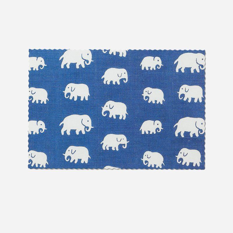 Vykort Elefant - 11x17 cm, Elefant, Blå | Svenskt Tenn