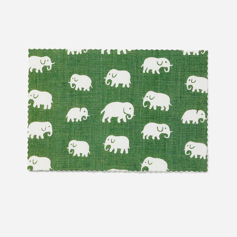 Vykort Elefant - 11x17 cm, Elefant, Grön | Svenskt Tenn