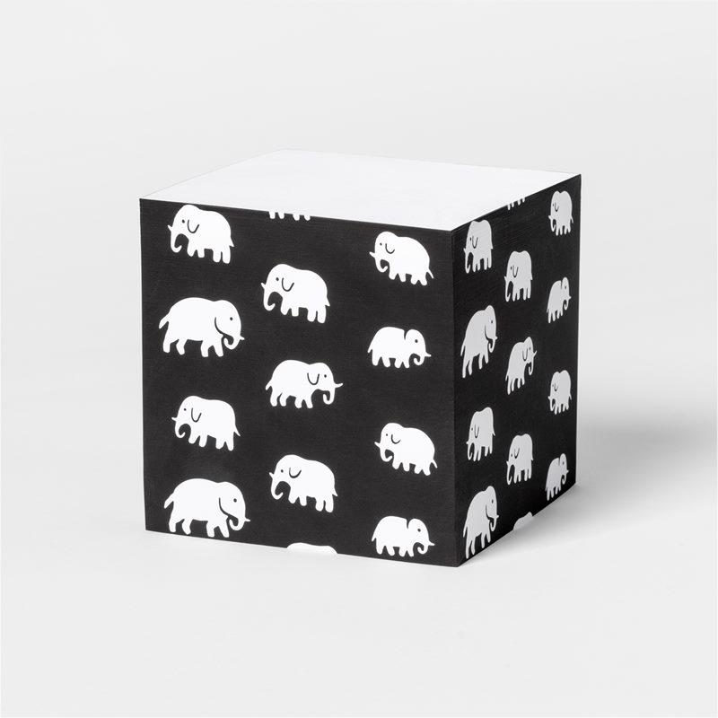 Memoblock Elefant - Elefant, Svart | Svenskt Tenn