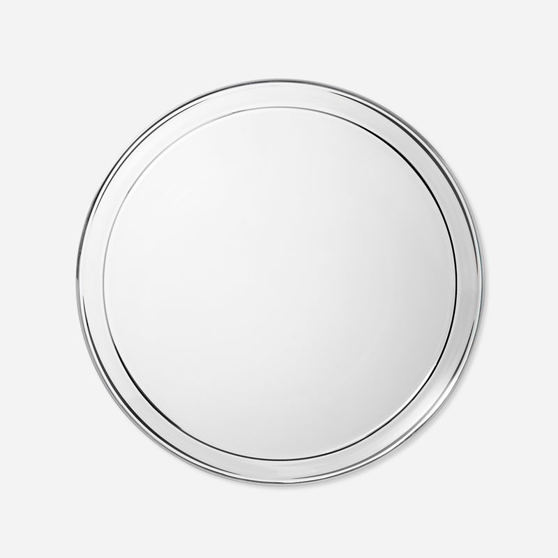 Assiett Silverkant - Glas, Silver | Svenskt Tenn