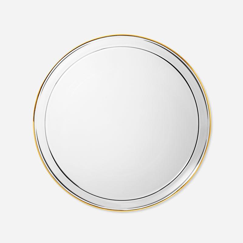 Side Plate Glass Gold Edge - Glass, Gold | Svenskt Tenn