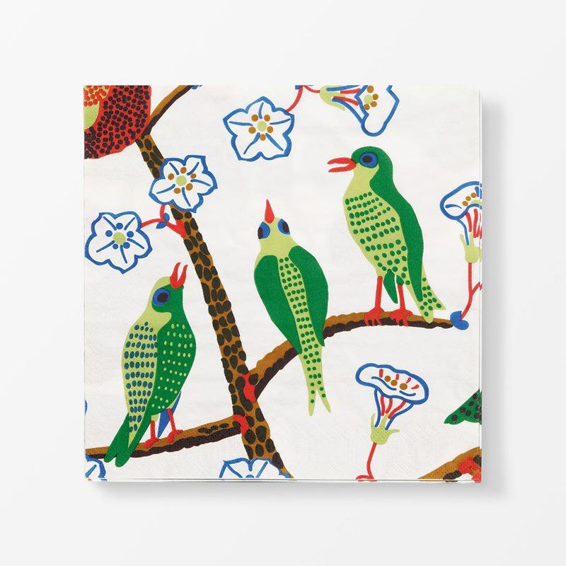 Papernapkins Gröna Fåglar - 20x20 cm, Paper, Gröna Fåglar | Svenskt Tenn
