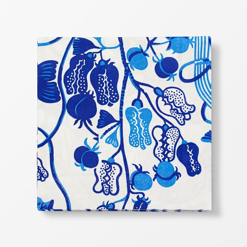 Papernapkins La Plata - 20x20 cm, Paper, La Plata, Blue | Svenskt Tenn