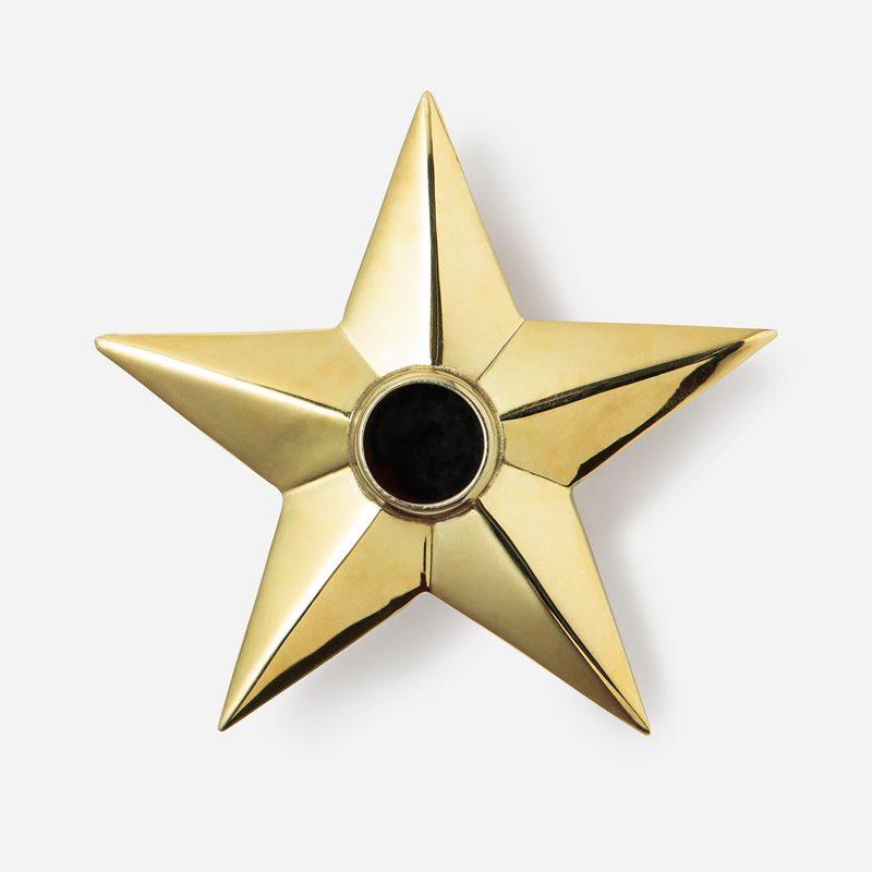 Candle Holder Star - Brass | Svenskt Tenn