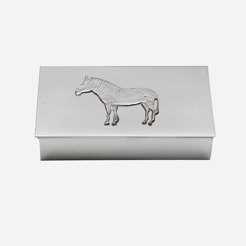 Casket with Lid Zebra - Pewter | Svenskt Tenn