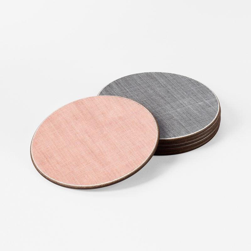 Coaster Grey Pink Aqua - Round, Grey Pink Aqua | Svenskt Tenn