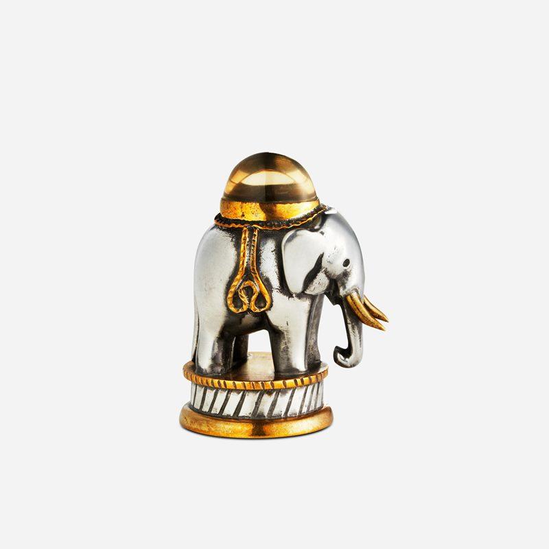 Seal Elephant with Stone - Pewter, Rocky quarts | Svenskt Tenn