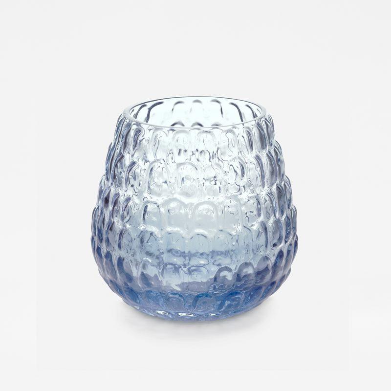 Vas Kotte - Glas, Blå | Svenskt Tenn