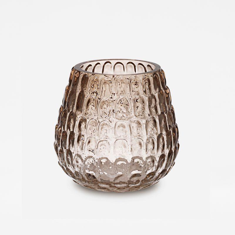 Vase Kotte - Glass, Brown | Svenskt Tenn
