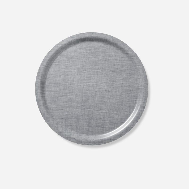 Bricka Svenskt Tenn Lin - 49 cm, Rund, Tenngrå   Svenskt Tenn