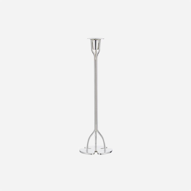 Candle Holder Clover - 30 cm, Silver plated | Svenskt Tenn