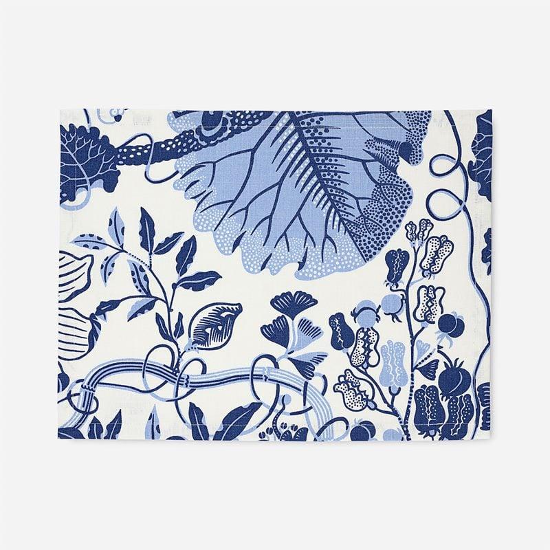 Placemat Textile La Plata - 35x45 cm, Linen, La Plata, Blue | Svenskt Tenn