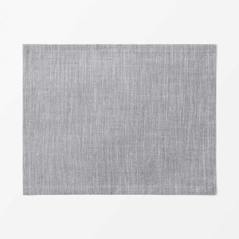 Placemat Textile Svenskt Tenn Lin - 35x45 cm, Linen, Pewter Grey | Svenskt Tenn
