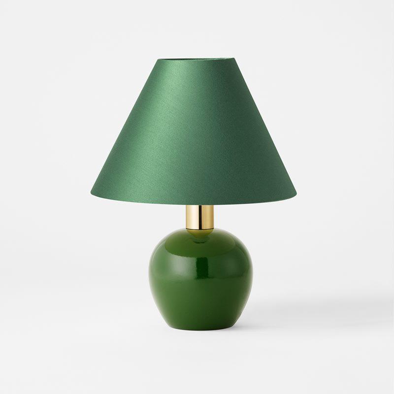 Table lamp 2575 - Wood Brass, Green | Svenskt Tenn