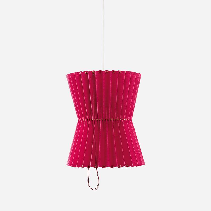 Ceiling Lamp Greta - Linen, Dark Pink | Svenskt Tenn