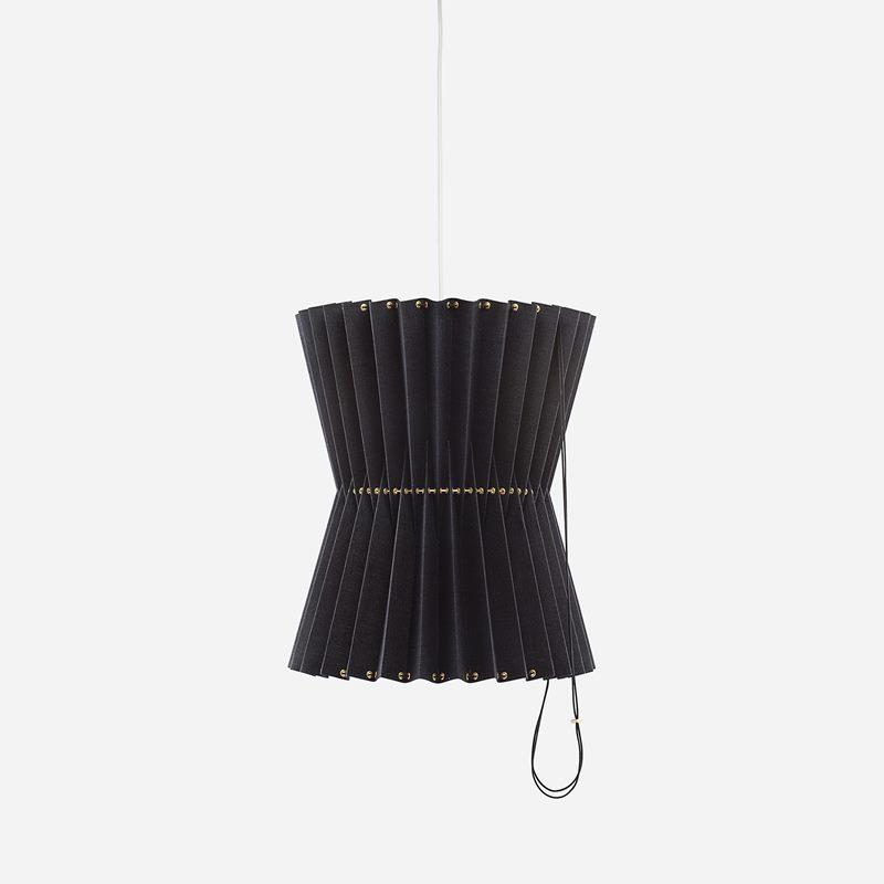 Ceiling Lamp Greta - Linen, Black | Svenskt Tenn