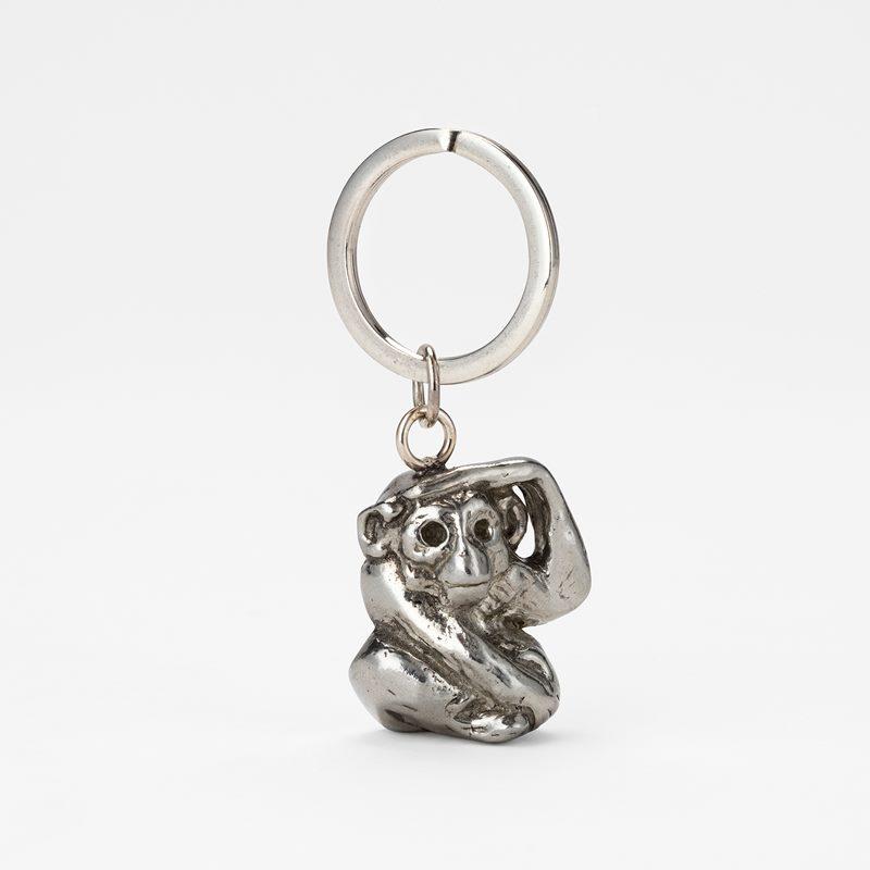 Pendant Monkey Key Ring - Pewter | Svenskt Tenn