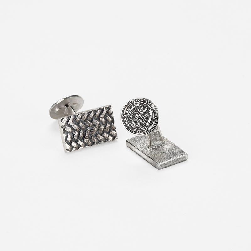 Cufflinks Panama Rectangular - silver, Rectangle | Svenskt Tenn