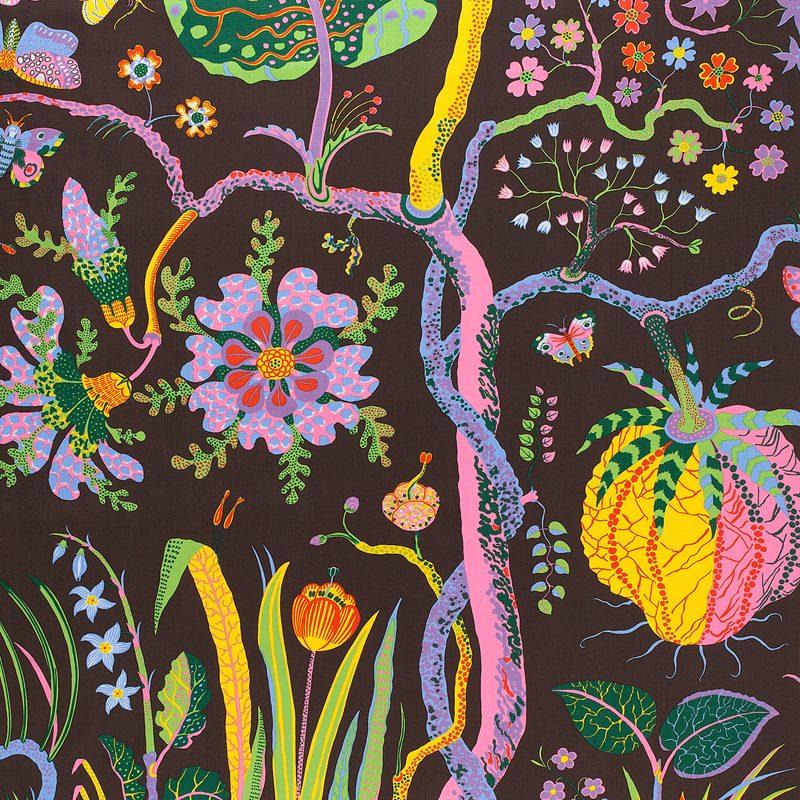 Fabric Sample Hawai - Linen 315, Hawai, Brown | Svenskt Tenn
