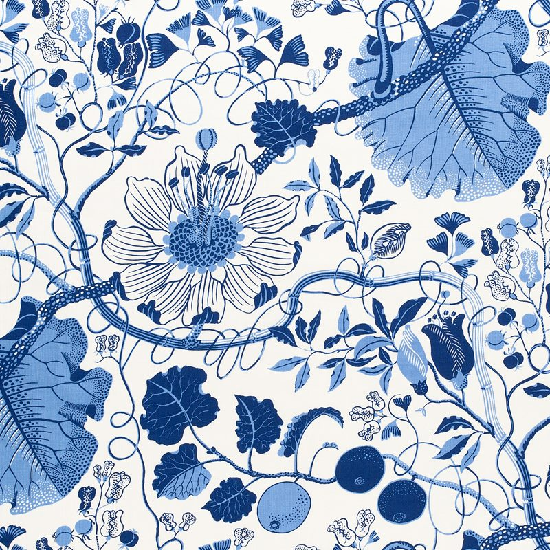 Fabric Sample La Plata - Linen 315, La Plata, Blue | Svenskt Tenn