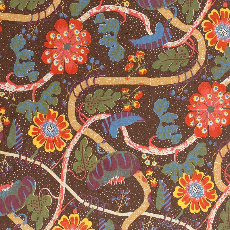 Textil Mirakel - Lin 315, Mirakel, Brun | Svenskt Tenn