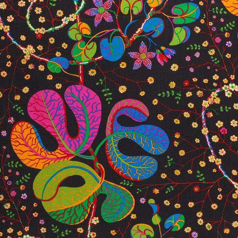 Fabric Sample Teheran - Linen 450, Teheran, Black | Svenskt Tenn