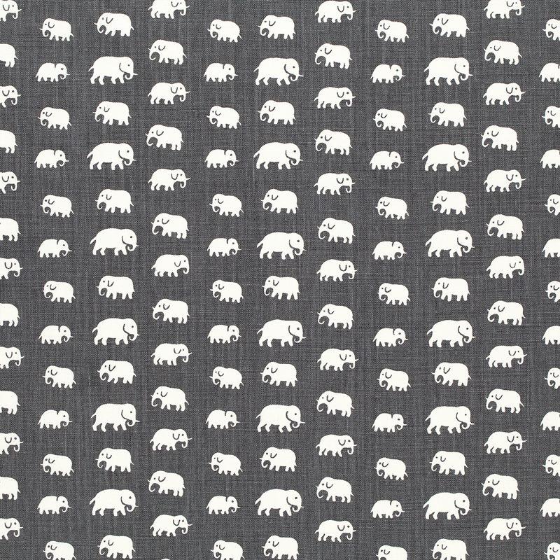 Textil Elefant - Lin, Elefant, Grå | Svenskt Tenn