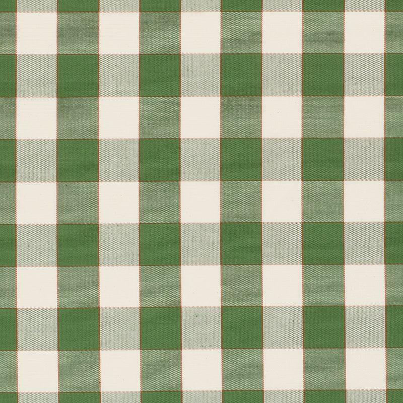 Textil Gripsholmsruta - Lin Bomull, Gripsholmsruta, Grön | Svenskt Tenn