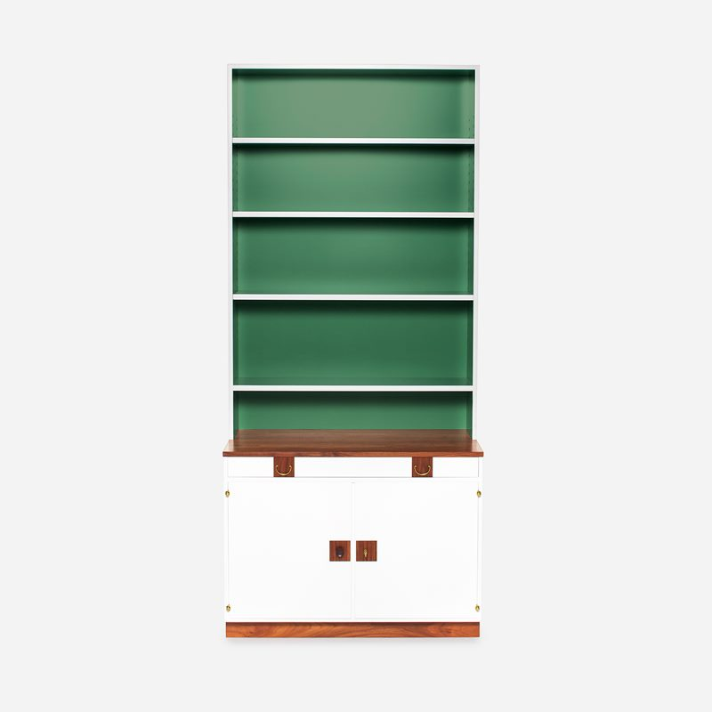 Bookcase 2255 - Walnut, White | Svenskt Tenn