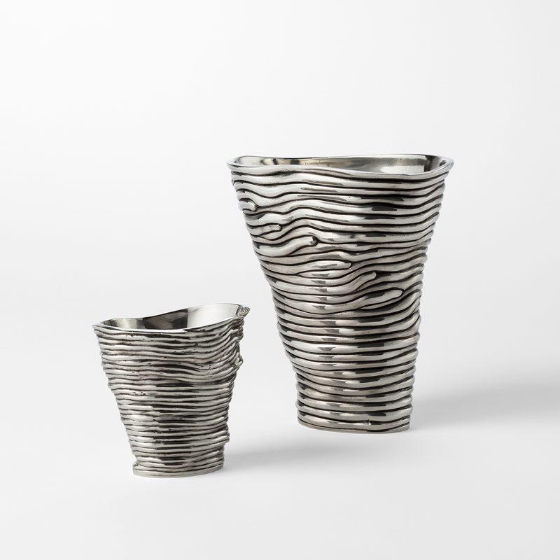 Vase  Randig - Large, Pewter | Svenskt Tenn