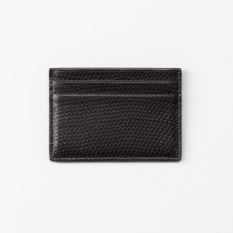 Cardholder Embossed Leather - Leather, Black | Svenskt Tenn