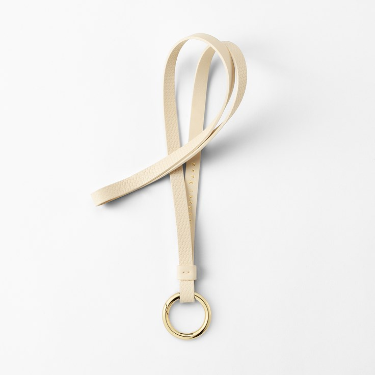 nyckelband i läder