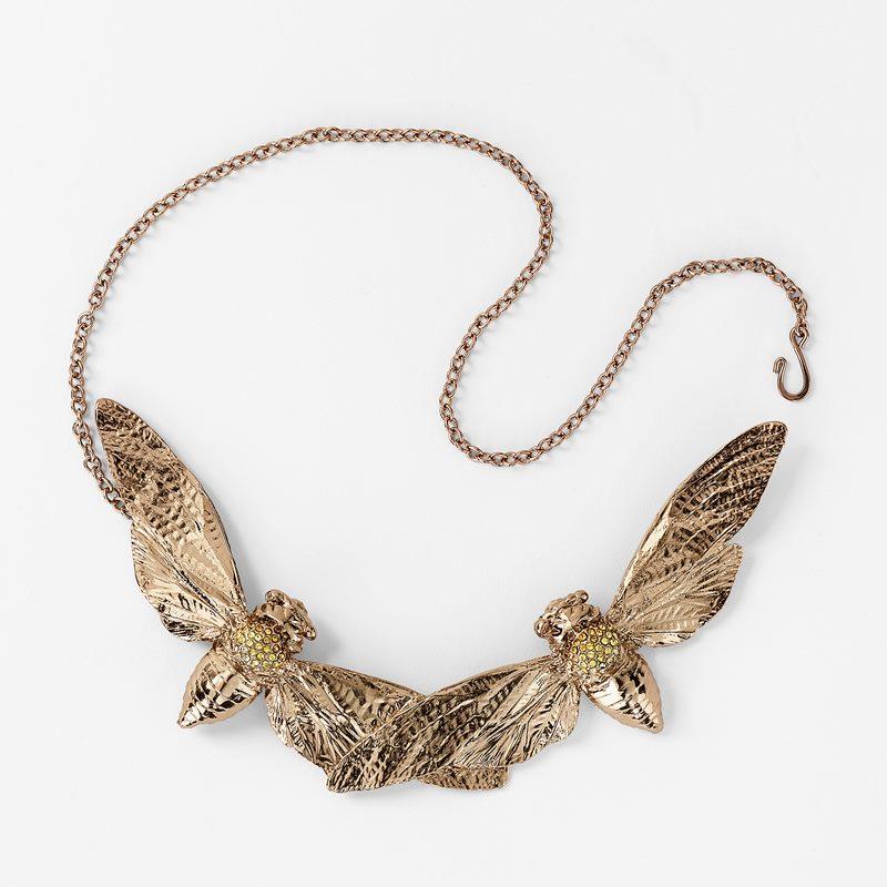 Necklace Cicada Double Brass - Brass | Svenskt Tenn