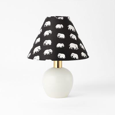 Lampshade 2575 linen elefant black estrid ericson svenskt tenn svenskt tenn