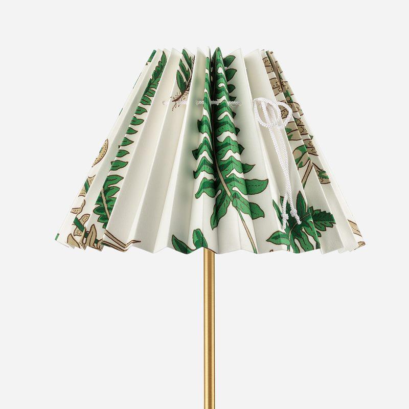 Pleated Lampshade - 19 cm, Cotton, Stensöta | Svenskt Tenn