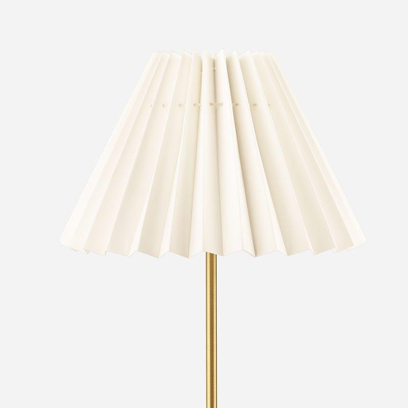 Lampskärm Plisserad - 19 cm, Bomull, Natur | Svenskt Tenn