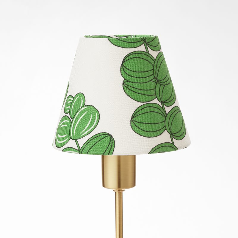 Lampshade 2332 - Linen, Celotocaulis, Green | Svenskt Tenn