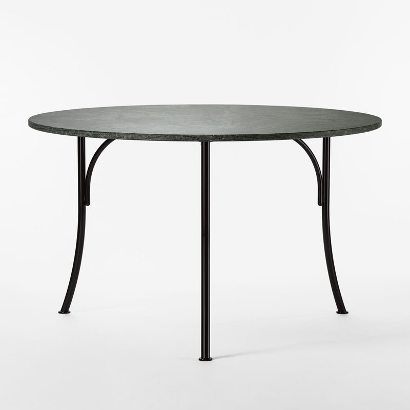 Garden Table 602 - 120 cm, Iron Granite, Round, Black | Svenskt Tenn
