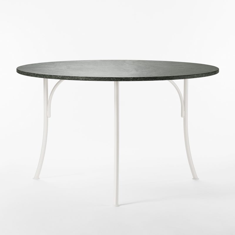 Garden Table 602 - 120 cm, Iron Granite, Round, White | Svenskt Tenn