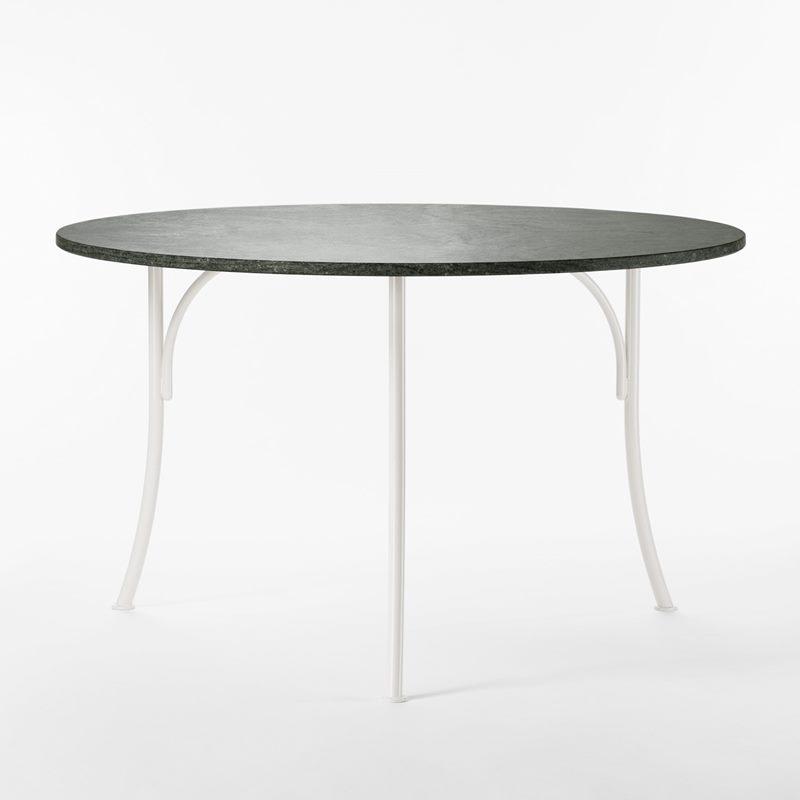 Trädgårdsbord 602 - 120 cm, Järn Granit, Rund, Vit | Svenskt Tenn