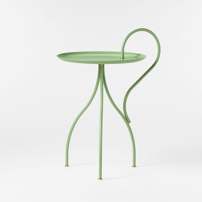 Table Oolong - Iron, Light Green | Svenskt Tenn