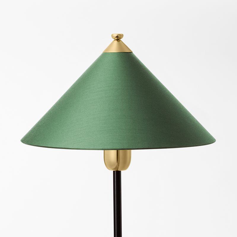 Lampshade 2599 - Cotton & Satin, Green | Svenskt Tenn