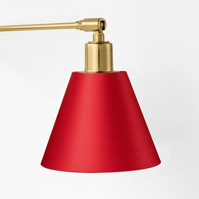 Lampshade 2226 - Cotton Satin, Red, Svenskt Tenn | Svenskt Tenn