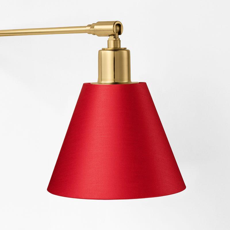 Lampshade 2226 - Cotton Satin, Red | Svenskt Tenn