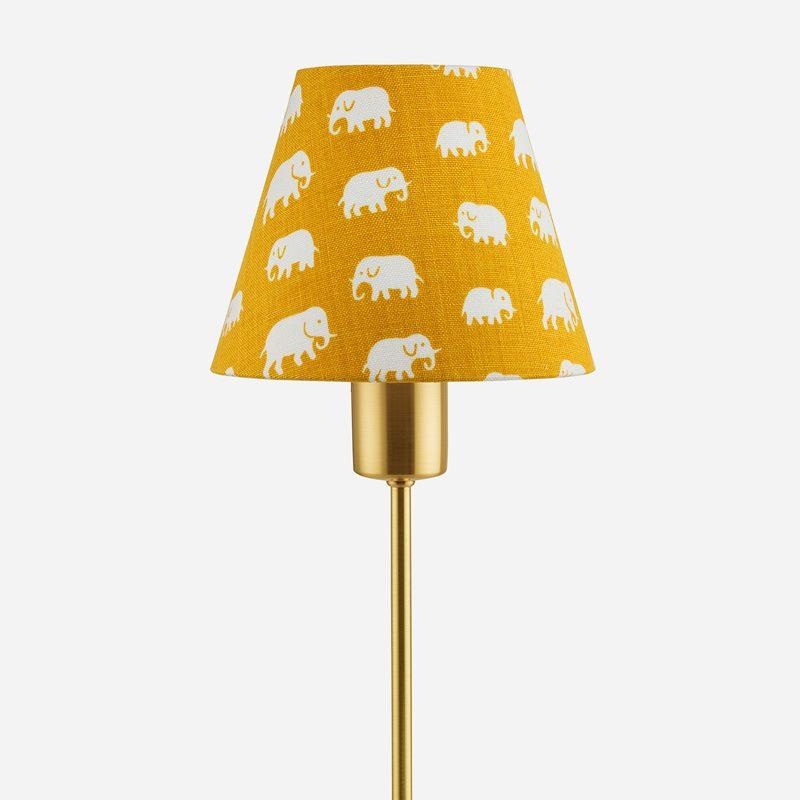 Lampshade 2332 - Linen, Elefant, Yellow | Svenskt Tenn