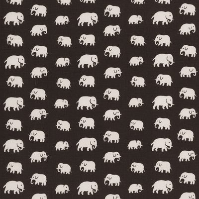 Fabric Sample Elefant - Linen, Elefant, Brown, Estrid Ericson | Svenskt Tenn