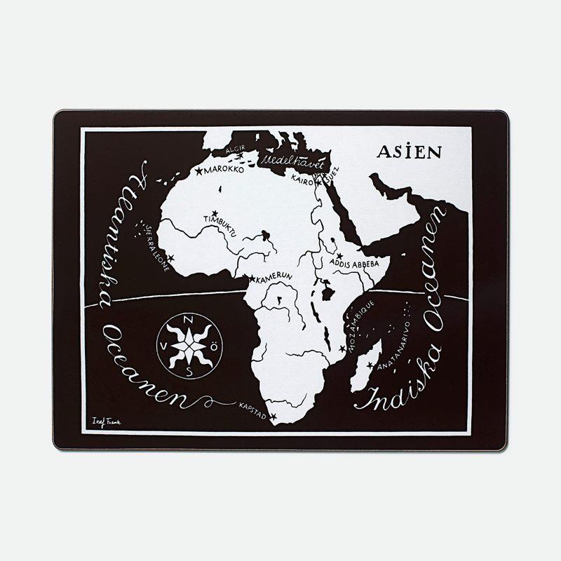 Placemat Worldmap - Afrika, Rectangle | Svenskt Tenn