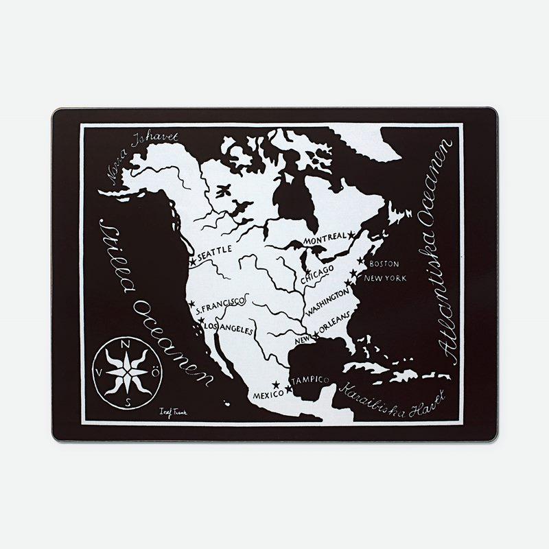 Placemat Worldmap - Amerika, Rectangle | Svenskt Tenn