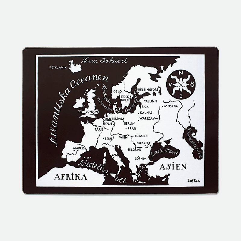 Placemat Worldmap - Europa, Rectangle | Svenskt Tenn