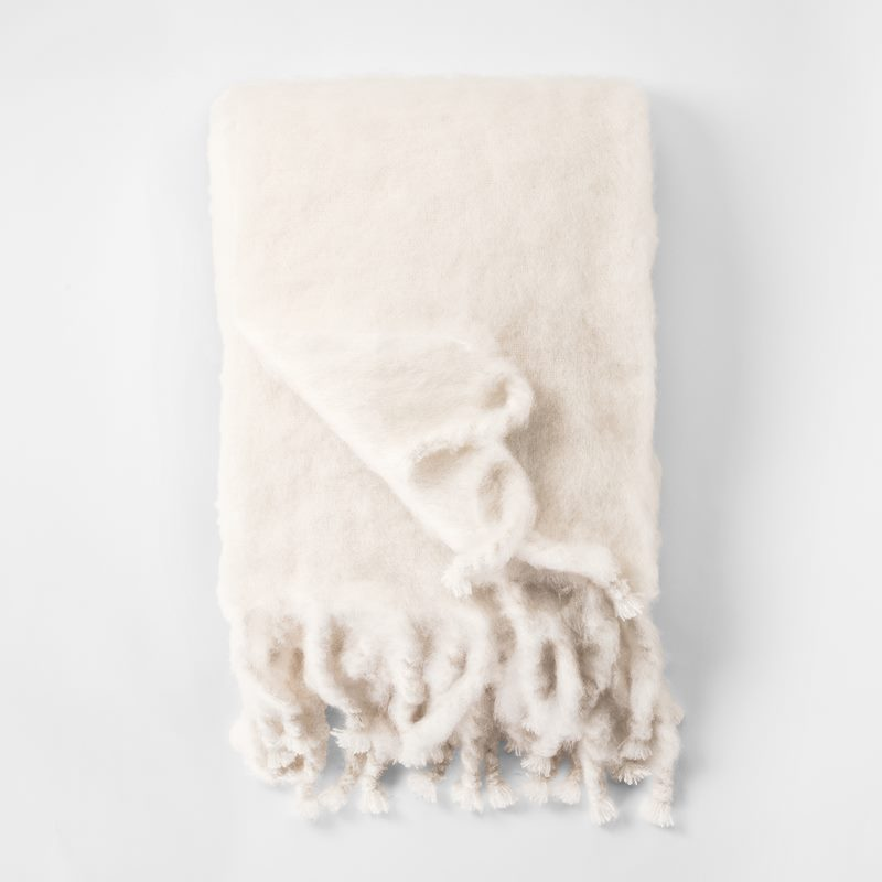 Throw Mohair - 130x180 cm, Mohair wool, White | Svenskt Tenn